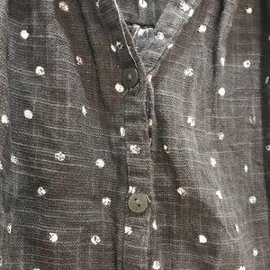 Universal Thread Tops - Universal Thread Polka Dot Short Sleeve Buttondown